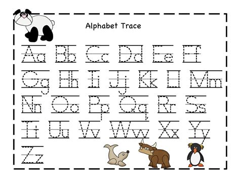 Alphabet Printables Sheets Kiddo Shelter Print Activities For