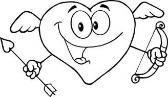 love heart drawing coloring pages