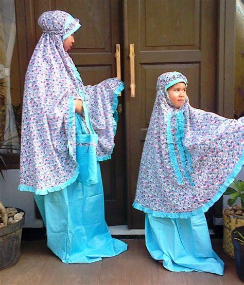 Mukena Anak Flower Oren Size S mukena remaja perlengkapan shalat