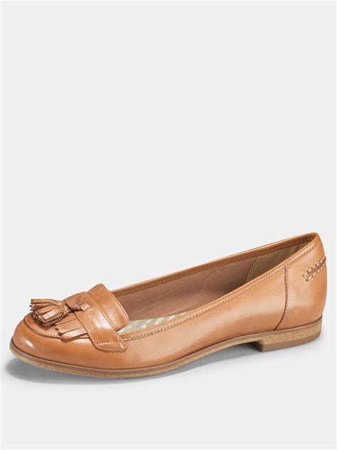 clarks clarks slice leather brogue shoes in