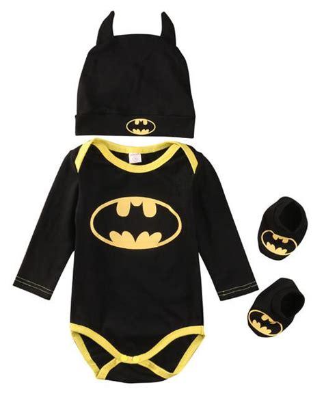 Romper Batman 1 Set batman onesie set set includes 3 set hat romper and