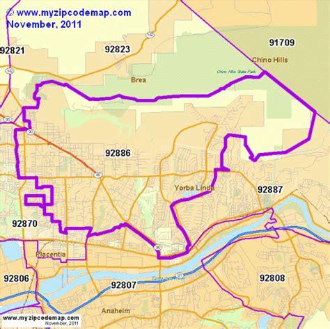 zip code map yorba linda ca zip code map of 92886 demographic profile residential