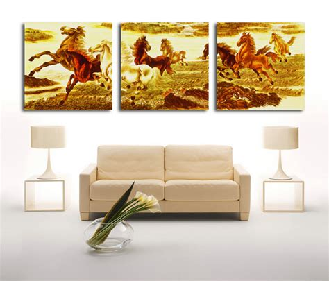 q where to purchase horse wall art home decor wall decor aliexpress com buy 3 piece abstract horses modern home