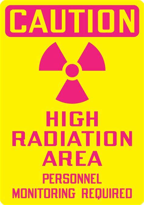 printable caution radiation area sign radiation hazard sign caution high radiation area
