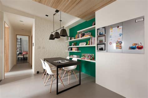 tisch future artists light and dark apartment design inspiration