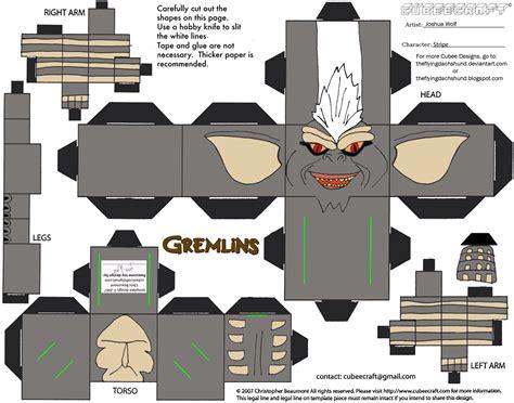 Design Papercraft - mm2 gremlin stripe cubee by theflyingdachshund on deviantart