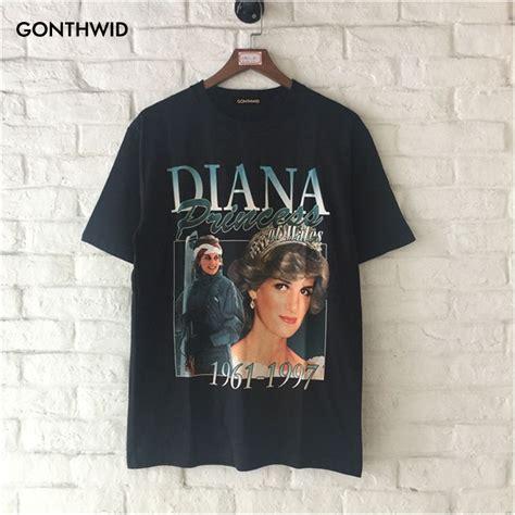 Diana Top Blousd Fashion Casual Bagus Murah vintage princess diana t shirt diana princess of wales memorial black rip tops fashion