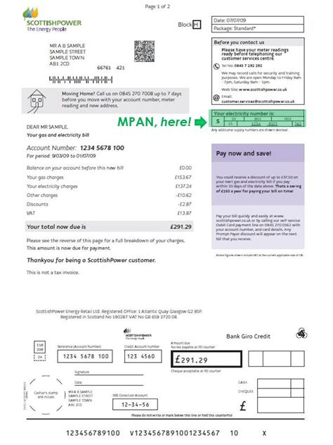 Light Bill Company by What Is A Mpan Number With Myutilitygenius