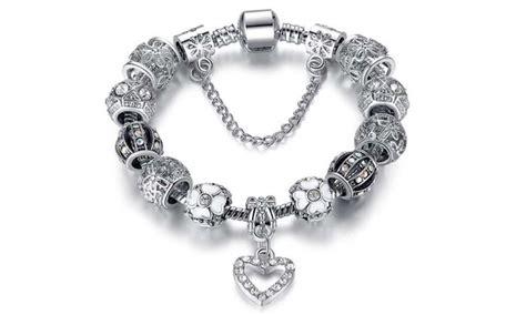 Charm Bracelet Made with Swarovski Elements   Groupon