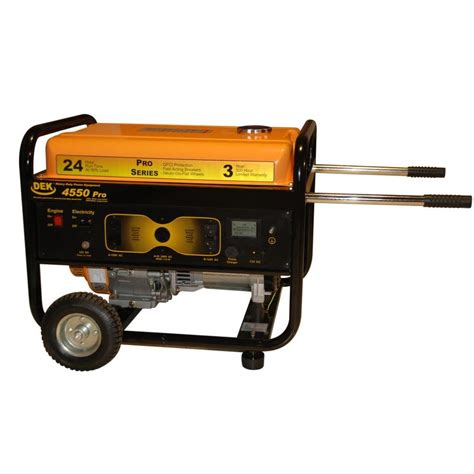 shop dek pro 4 550 running watt portable generator with