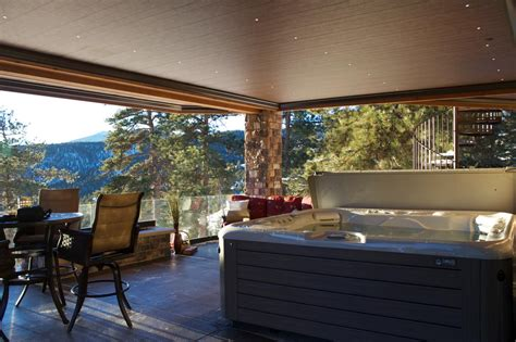 Living Room Tub by Tub And Outdoor Living Room With Mountain Views This