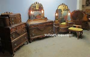 Vintage Bedroom Vanity Set Antique Bedroom Set Lighted Mirrors Bed Vanity By Picks4u