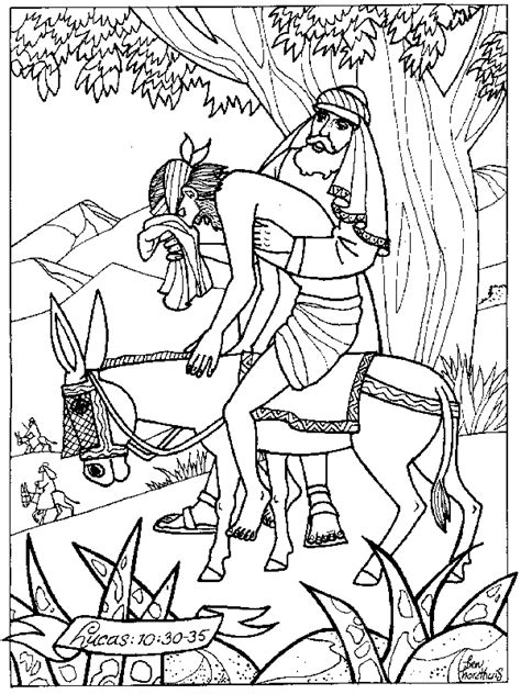 coloring page for good samaritan summer with trusty and the good samaritan trusty s mailbag