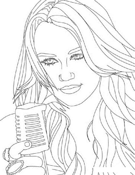 Free Printable Hannah Montana Coloring Pages For Kids Montana Coloring Page