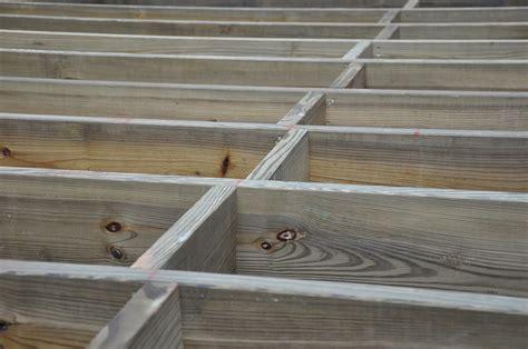 Patio Joist Decks Deck Blocking And Bridging