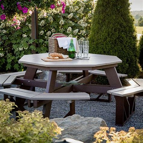 octagon picnic table picnic table ideas