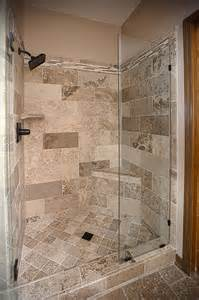 bathroom remodel travertine tile shower excellence in