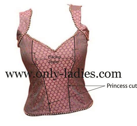 blouse cutting cut work blouse material peach sleeveless blouse