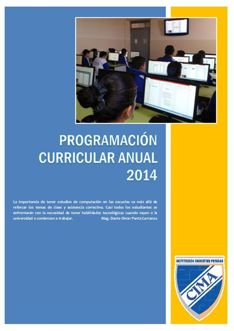 programacion curricular 2017 area cta programacion curricular anual cta 2015 new style for