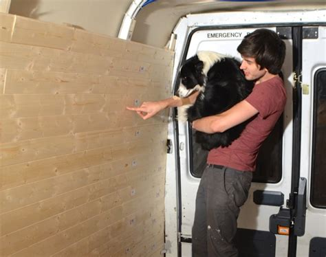 Painting Home Interior Cost fitting wooden cladding to the van interior vandog traveller