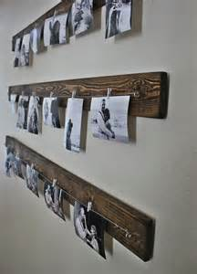 Picture Hanging Clips Rustic Wall Picture Display You Can Get The Line And