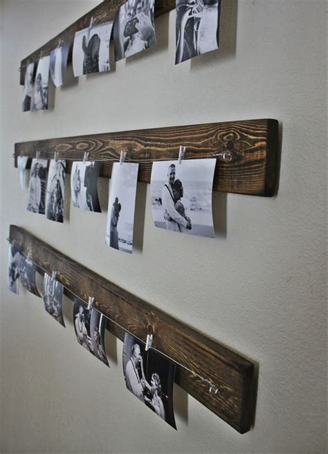 photo display clips rustic wall picture display you can get the line and clips at ikea in a whole set love the