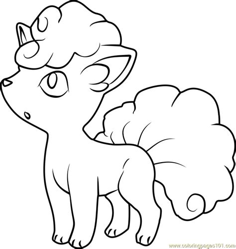 alola vulpix pokemon sun and moon coloring page free