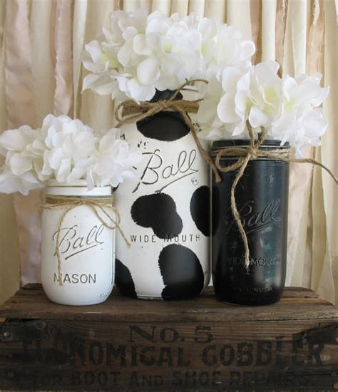 cow home decor cow decor cow jar painted jar cow home