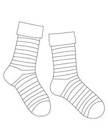 sock template best photos of socks coloring page template socks