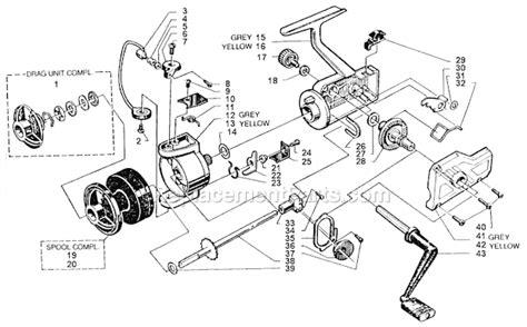 abu garcia parts diagrams abu garcia 355 parts list and diagram 86 0