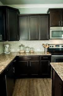espresso kitchen cabinets with granite best 25 cabinets ideas on