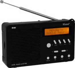 High Sensitivity Speakers Bookshelf Portable Dab Radio With Fm Black Wintal