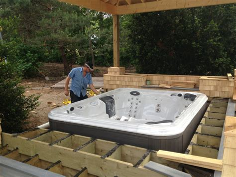 backyard deck designs with hot tub hot tub deck designs hot tub sunken in pavers 1000 ideas