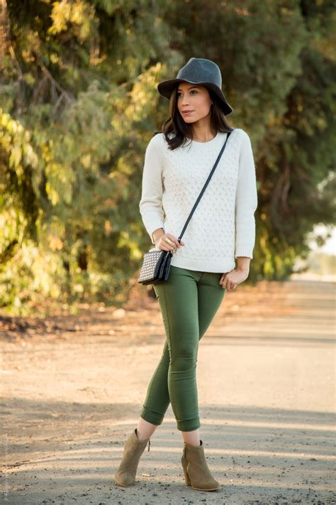 what to wear with olive green this fall