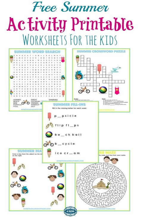 printable preschool summer activities summer activities worksheets for preschoolers spelling