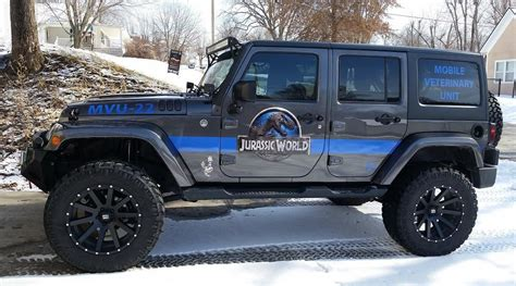 jurassic jeep blue oh my gosh david s jeep is on for david