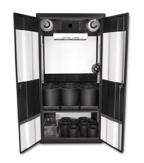 Cupboard Led - deluxe 3 0 led soil grow cabinet supercloset