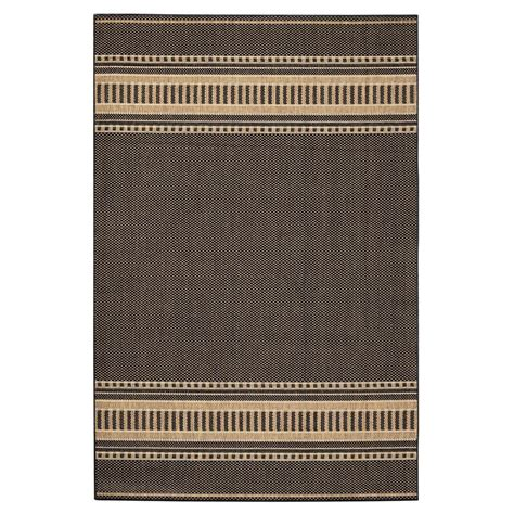 home decorators collection saddlestitch all weather area rug ebay home decorators collection saddlestitch cocoa natural 5 ft