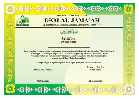 download format buku word download contoh sertifikat paskil ramadhan format word