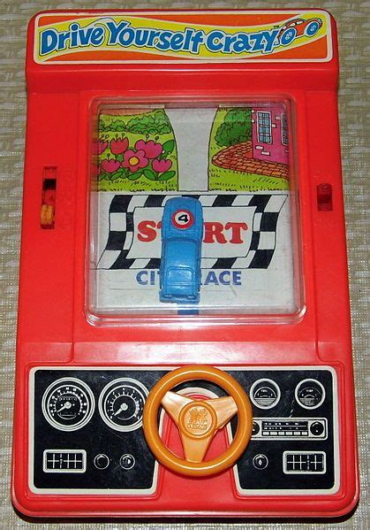 drive yourself tomy quot drive yourself crazy quot handheld game my childhood