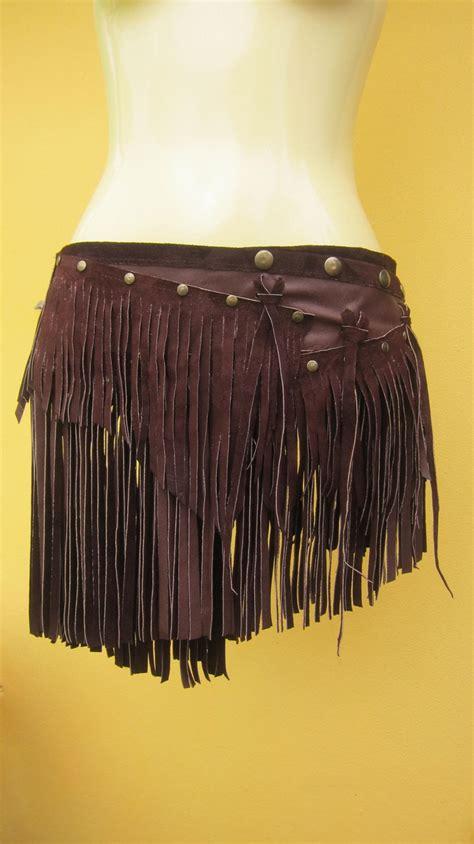 Fringe Leather leather fringe skirt