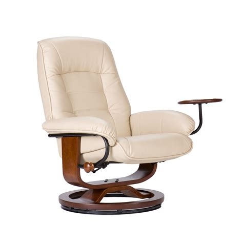 Leather Recliner With Ottoman Southern Enterprises Leather Recliner And Ottoman By Oj Commerce 499 99