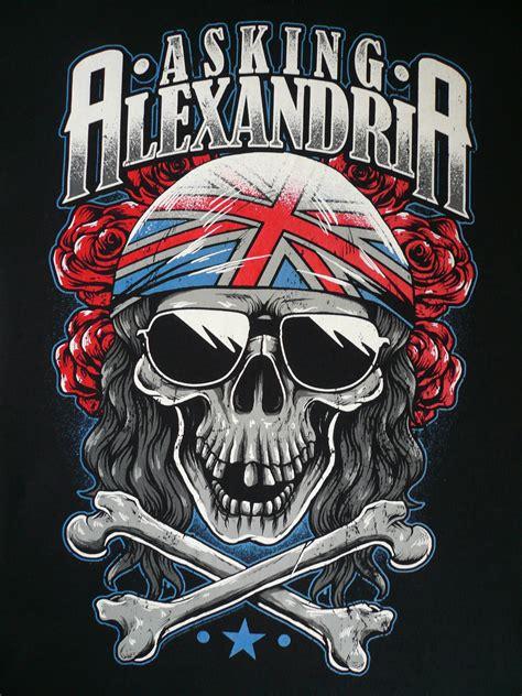Asking Alexandria Skull asking alexandria a grey skull t shirt amsterdam waterlooplein