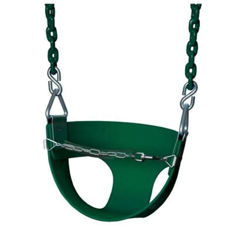 half bucket swing gorilla playsets half bucket swing with chain in green 04