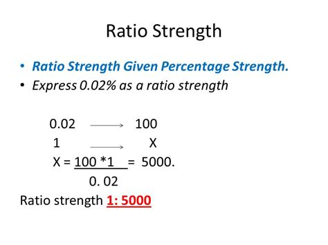 Strength To Strength ratio strength other expressions of concentration ppt