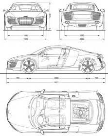 audi r8 blueprint modeling audi r8 and audi