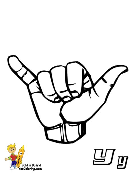 asl abc coloring pages free coloring pages of asl alphabet