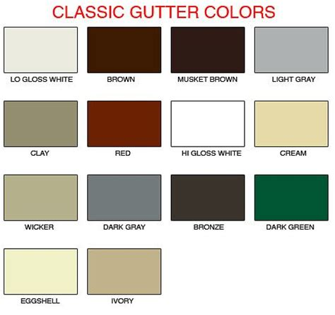 classic gutter colors color selector colors and classic