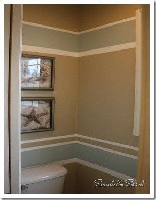 powder room painted stripes paint colors sherwin williams rainwashed putty