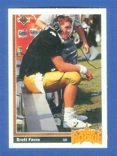 football cards value 1991 deck fb 13 brett favre rookie falcons packers